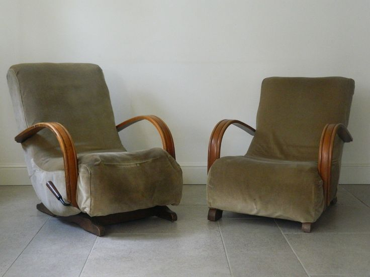 Matching Pair Art Deco Rocking Chair & Armchair Offered for Refurbishment in Antiques, Antique Furniture, Chairs | eBay