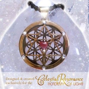 The Celestial Resonance Pendant (Bronze/Raw Ruby). A strong raw energy popular with men! Features a 3d Merkabah, Raw Ruby Crystal Heart & the Seed of Life.  Designed not to need regular polishing!  This pendant supports you to fully receive celestial frequencies, to move in celestial flow, with the divine timing of your life, supports your spiritual growth & well being. Learn More & purchase: http://www.kyrona.com/?p=9122 #spiritualjewelry, ,#crystaljewelry, #bronzejewelry