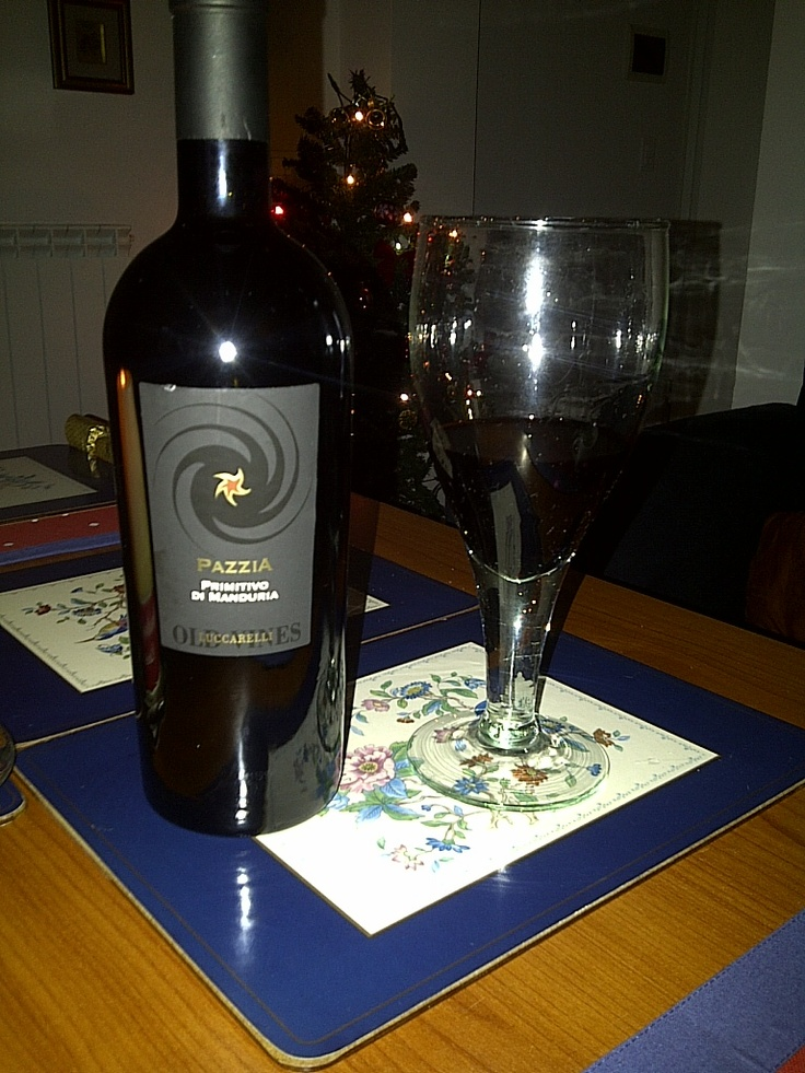 Luccarelli Old Vines Primitivo Pazzia on Christmas day  As rich as any Amarone with deep, full flavours. WOW! What a wine!