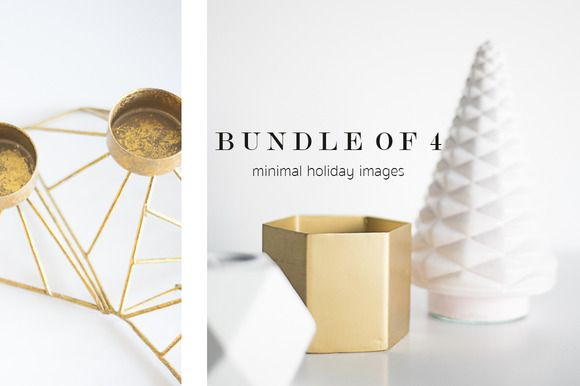Gold & White Holiday Stock Images by TwigyPosts on Creative Market