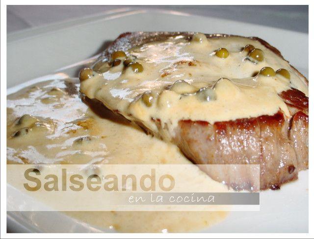 Salseando en la cocina: Filet mignon au proivre - Solomillo de ternera a la pimienta verde
