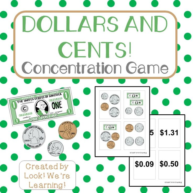 Dollars and Cents: A Printable Money Game for Kids ...