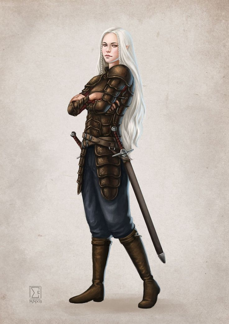 Elwene Ehrwald - commission- she's a half elf from the RPG Das Schwarze Auge / The Dark Eye Ich hab ja momentan so meinen Spaß mit Iryanrüstungen...