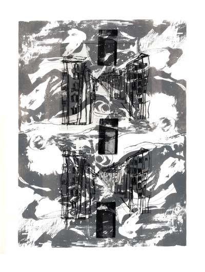 Jurgita Gerlikaite. A City I. 1995. Lithography, mezzotint, dry point. Reykjavik, Iceland