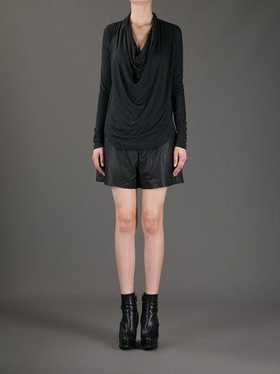 HELMUT LANG - faux-leather shorts 7