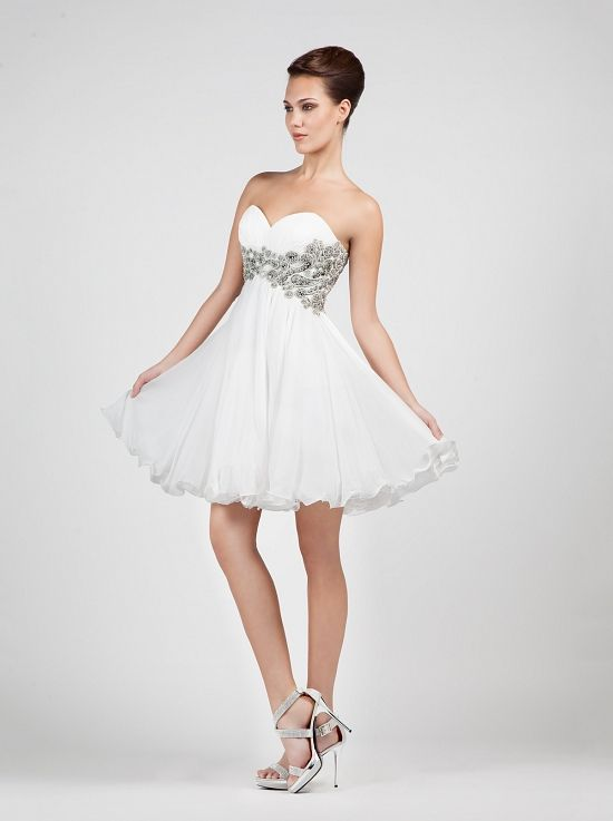 Short wedding dress with full skirt!! http://mikael.gr/en/previous-collections/30417-1.html