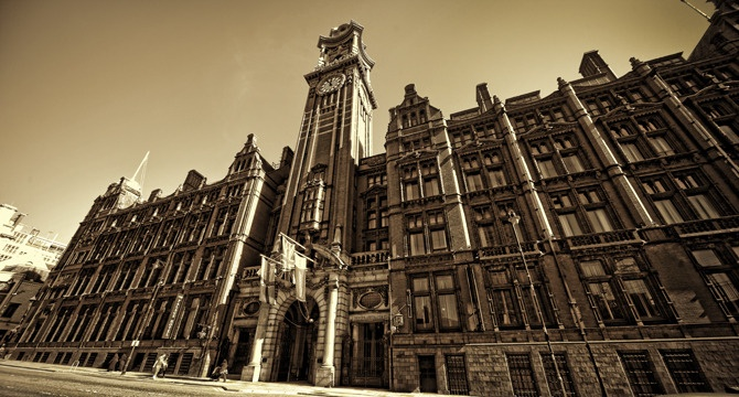 The Palace Hotel Manchester. A symbol of the Hive of Activity in Manchester during the industrial revolution.