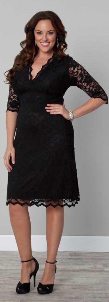 Lace Boudoir Dress in Plus Sizes