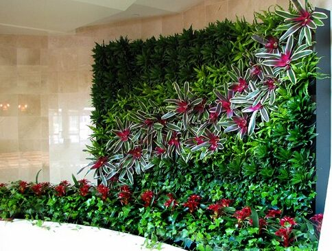 8 best great and cheap artificial plant hedge wall plant for Cheap vertical garden