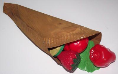 cornucopia craft | Cornucopia craft - we've filled our cornucopia with plastic fruit but ...