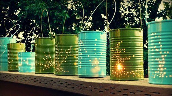 Recycler vos boîtes de conserve : lanternes pour l'été