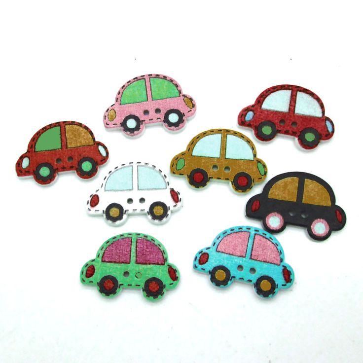 50Pcs 25x20mm Kawaii little car design wood buttons Cartoon car wooden button for sewing DIY accessories-in Buttons from Home & Garden on Aliexpress.com   Alibaba Group