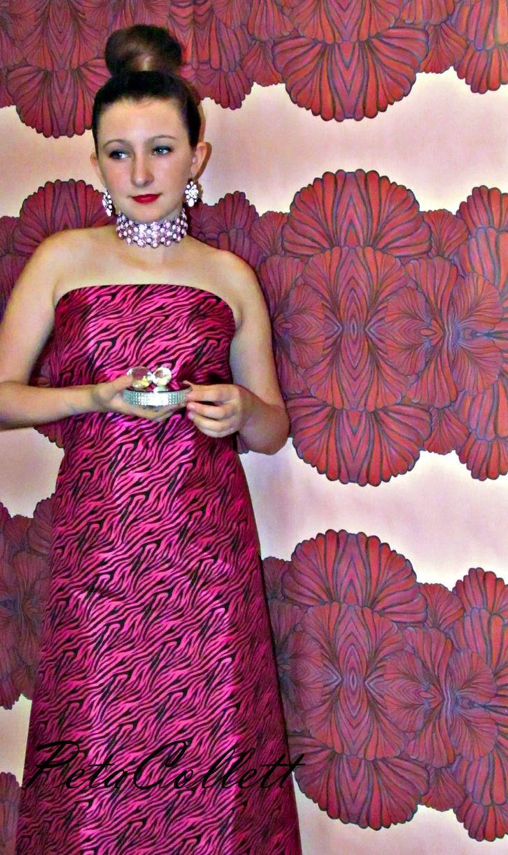 The beauty of feminine flower power  Wallpaper design and styling Peta Collett