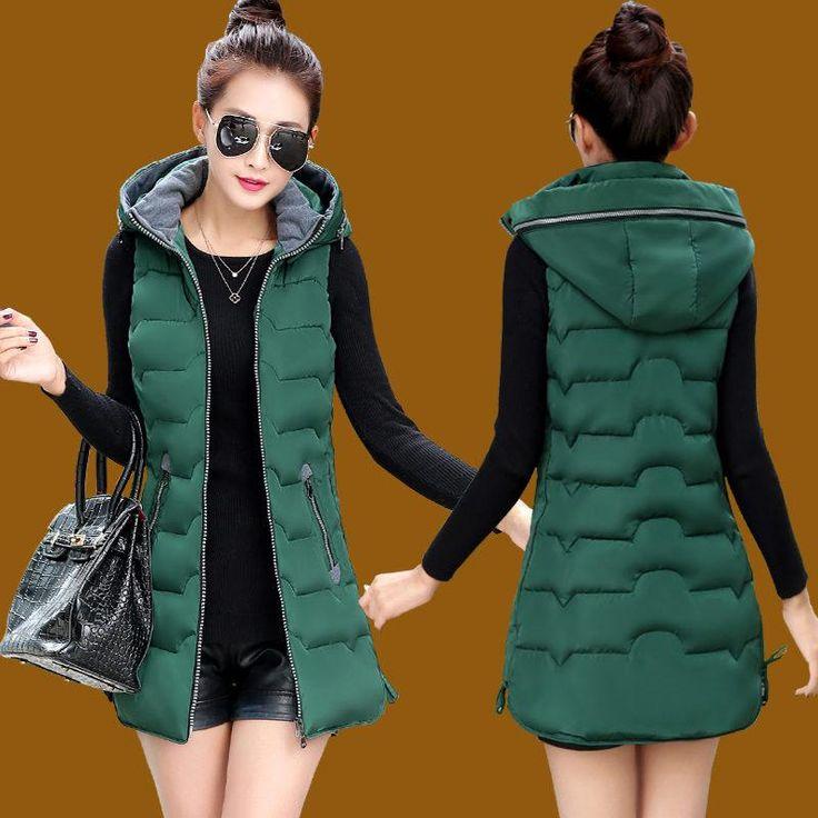 Autumn Winter Vest Women Waistcoat 2017 Female Sleeveless Jacket