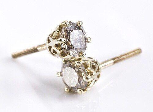 Gold Diamond Earrings 1 Carat , 14K Yellow Gold Earrings, Diamond Stud Earrings, Women Jewelry, Fashion Jewelry by Sevencaratshop on Etsy https://www.etsy.com/listing/226443630/gold-diamond-earrings-1-carat-14k-yellow
