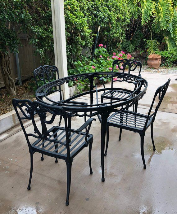 Brown Jordan Florentine Patio Dining Table With 4 Chairs Vintage
