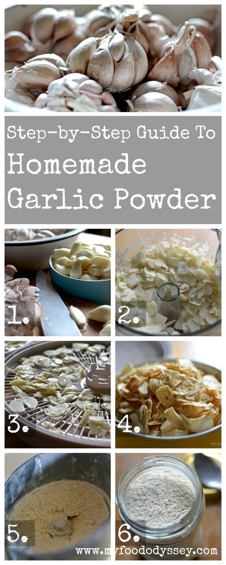 Step-by-step guide to making homemade garlic powder. So easy and so versatile!                                                                                                                                                                                 More