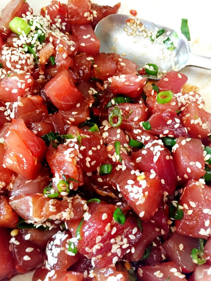 Spicy Poke Bowls | CaliGirl Cooking