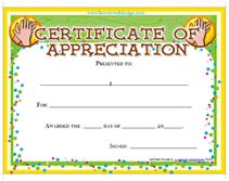 certificates of appreciation free templates
