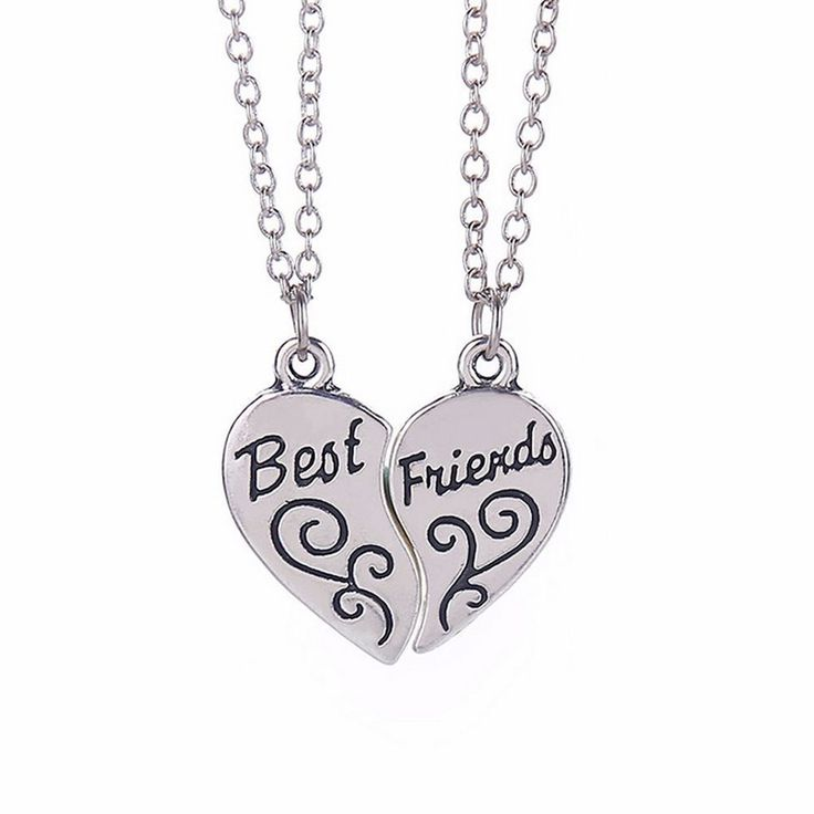 Mejores Amigos Bff doble del encanto del corazón Collar Colgante Plata Antigua 2in1 Reino Unido | Joyería y relojes, Joyas de moda, Collares y dijes | eBay!