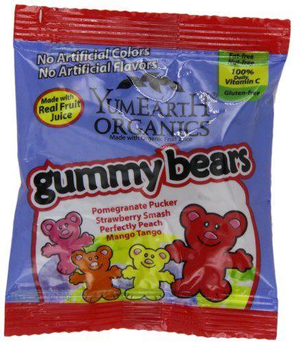 YumEarth Gummy Bears, Pack of 50 (.7 Ounce Each) - http://goodvibeorganics.com/yumearth-gummy-bears-pack-of-50-7-ounce-each/