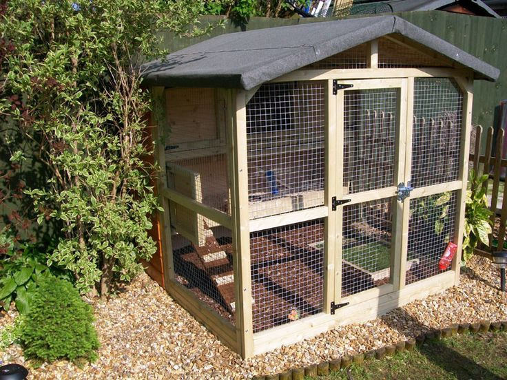 Deluxe 3-Story Rabbit Enclosure: This run is 5 ft long x 5 ft wide x 4 ft 6