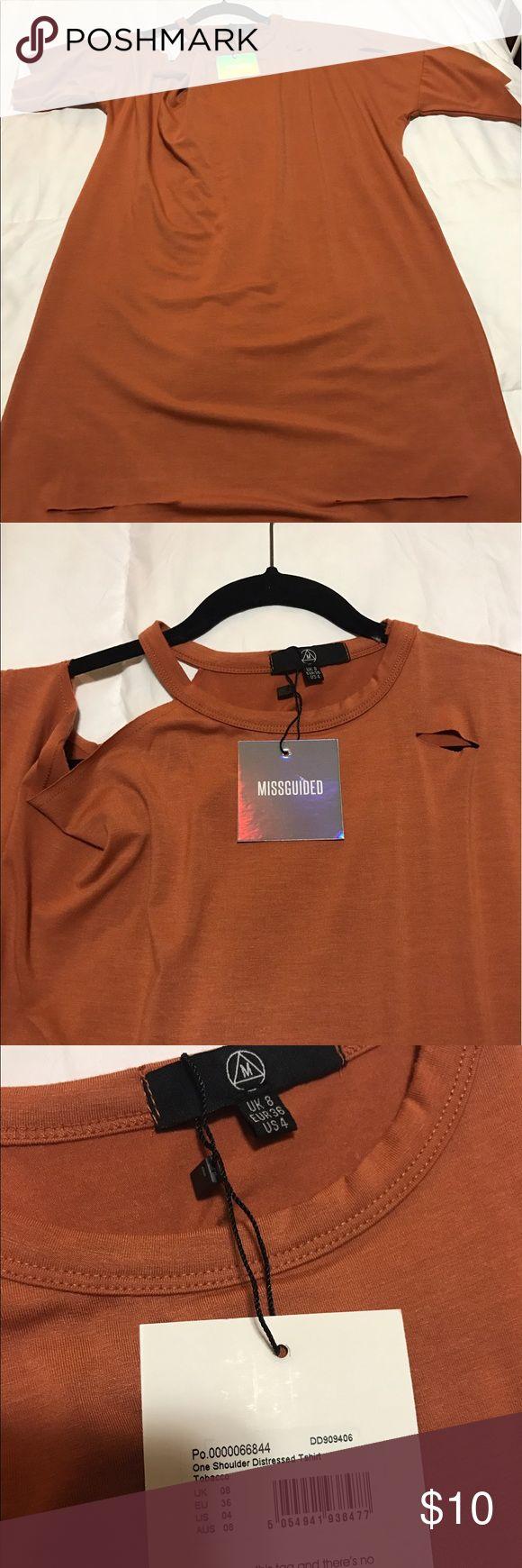 Orange missguided dress Orange Missguided T shirt dress. NWT. CUTOUT DETAILS Missguided Dresses