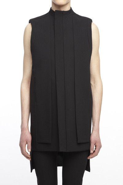rad hourani CH601BKC : UNISEX LAYERED PANEL VEST