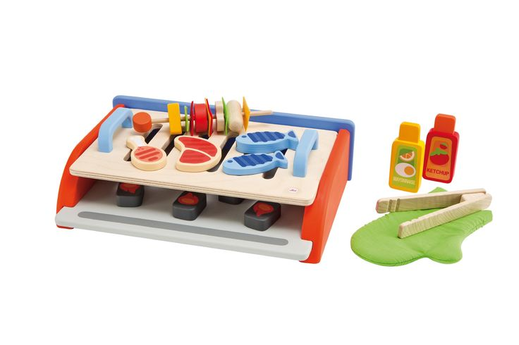 Amazon.com: Sevi 1831 wooden toy - Pretend Play - Barbecue - (Cod. 82558): Toys & Games