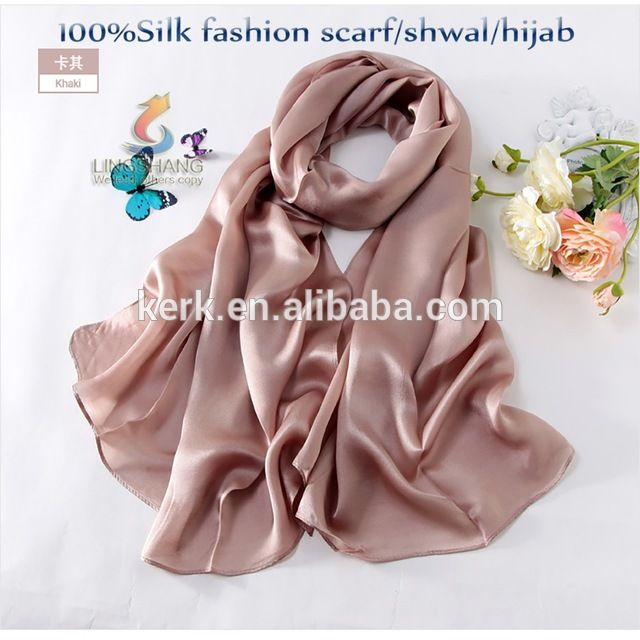 Wholesale 100% silk Dubai Muslim Hijab scarf, 180*65cm satin scarf, shawl scarf for women From m.alibaba.com