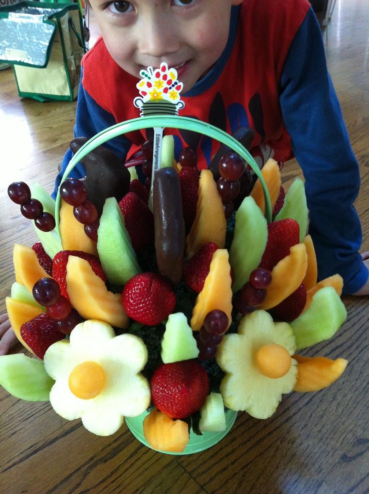 working at edible arrangements