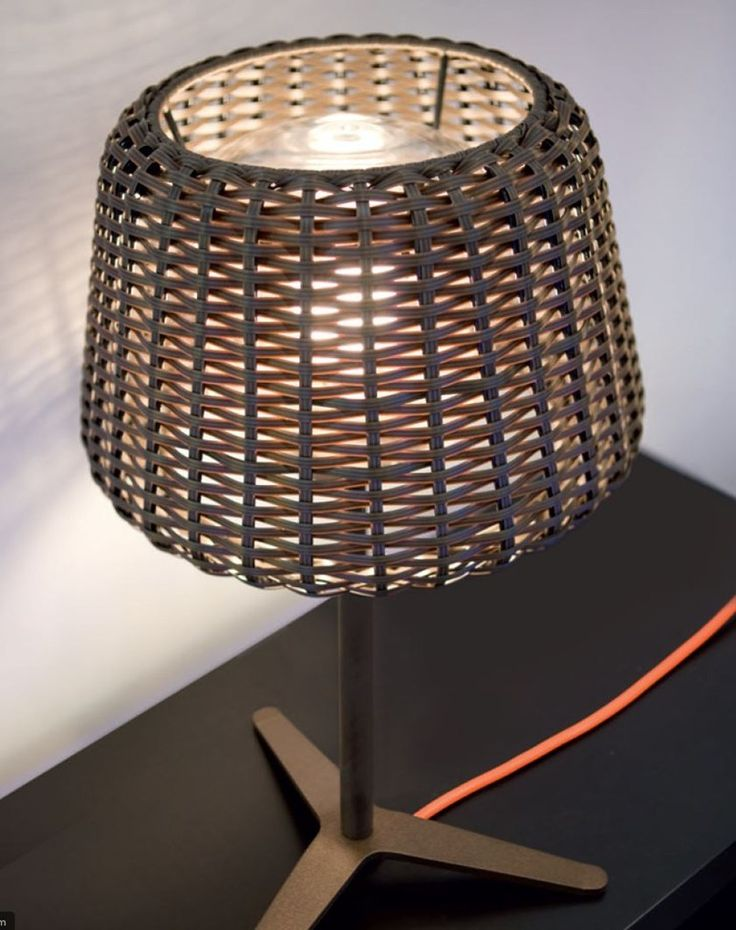 Rattan table lamp RALPH Ralph Collection by PANZERI | design Team Design