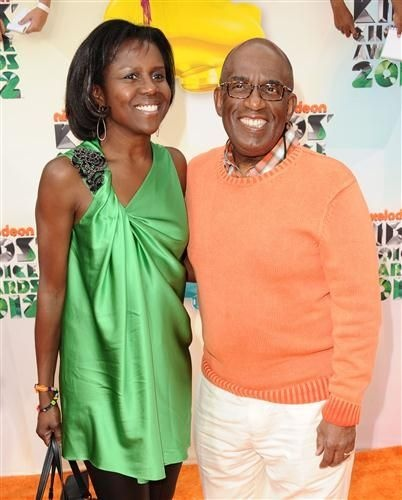 Al Roker and his lovely wife Deborah Roberts