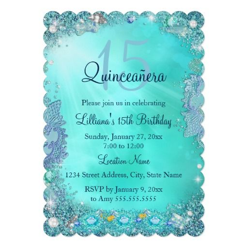 373 Best Images About Ocean Birthday Party Invitations On
