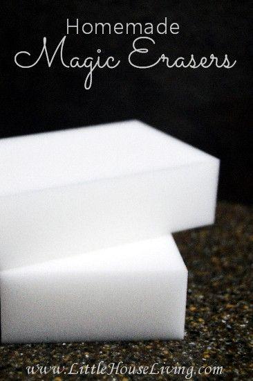 Homemade Magic Erasers - Little House Living