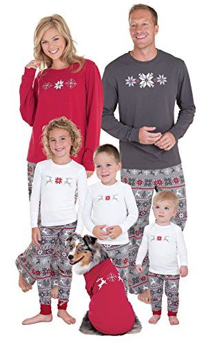 3622dced85 New PajamaGram Family Christmas Pajamas Set - Soft Cotton Family Pajamas