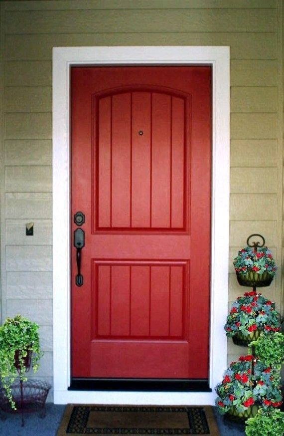 25 best ideas about red front doors on pinterest red door house red doors and currant ideas - Red exterior wood paint plan ...