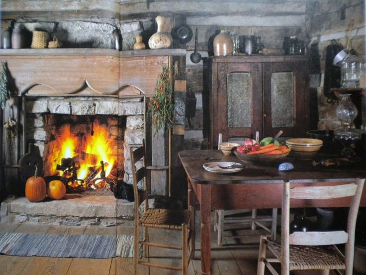 .: Decor Ideas, Primitive Kitchens, Primitive Rustic Country, Primitive Country, Fireplaces Hearth, Country Kitchens, Primitive Ideas, Primitive Decor, Primitive Rooms