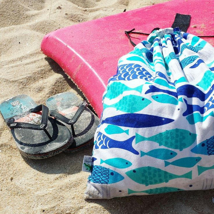 Our popular, stunning cobalt fish bag is back!