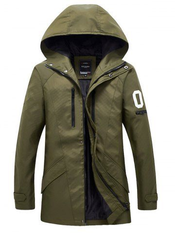 SHARE & Get it FREE | Zippered Snap Button Hooded Coat For MenFor Fashion…