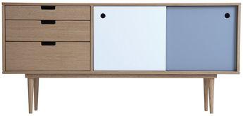 Bahut - Buffet Scandinave 50's - Fidar Blanc / Gris  - Kann Design