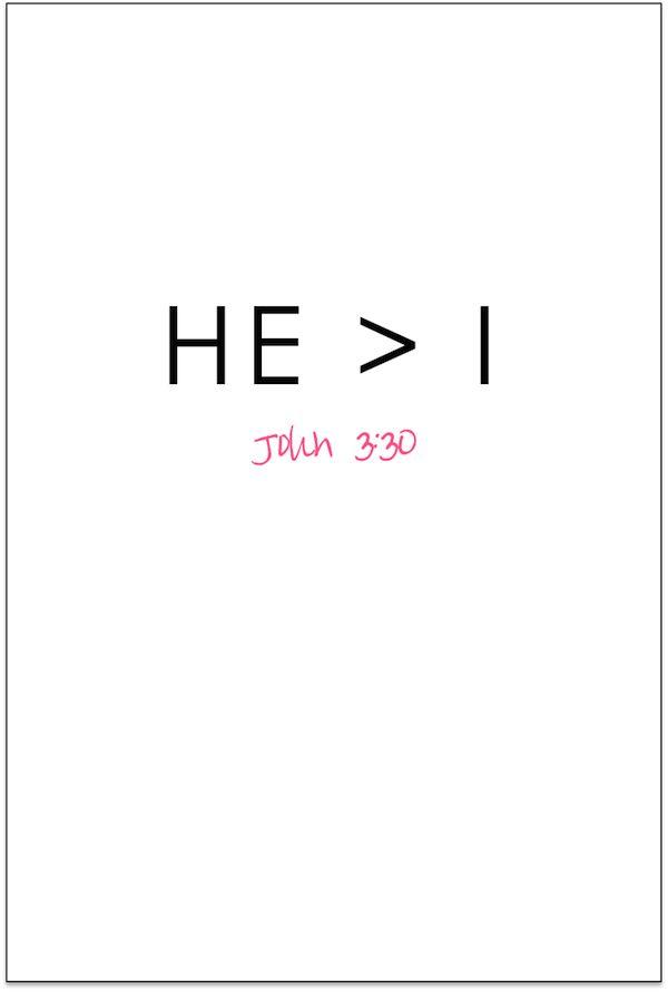 He > I : John 3:30
