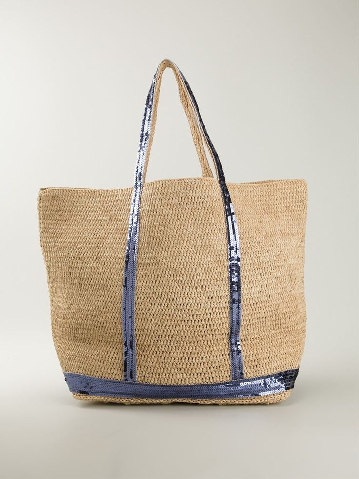 Multicoloured raffia sequin embellished tote from Vanessa Bruno.