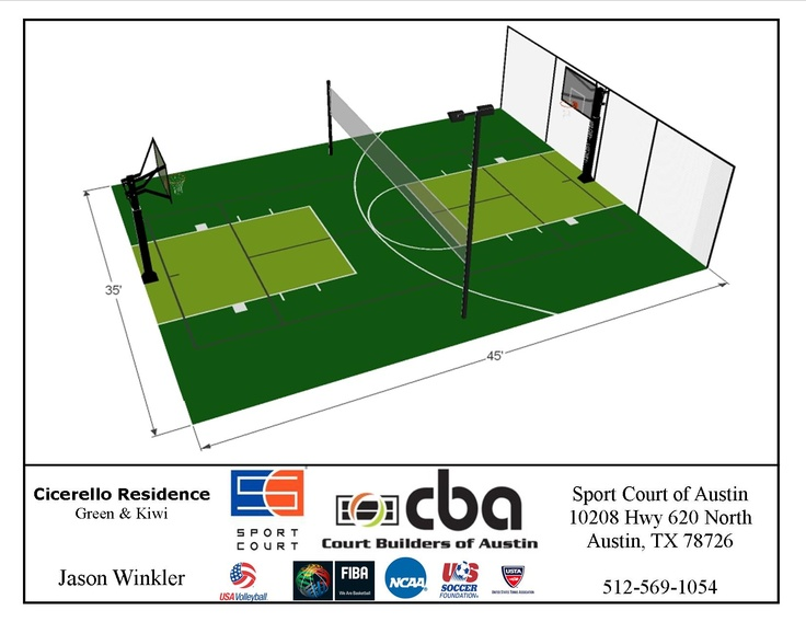 13 best backyard pickleball courts images on pinterest for Diy sport court