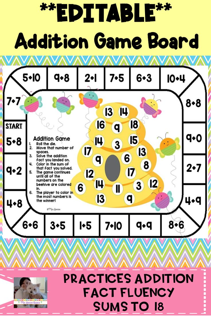 The Editable Version Of My Addition Game Board I Kept The Original Directions And Math Facts In This Version As Wel Addition Games Math Facts Math Board Games Addition and subtraction board game ks1