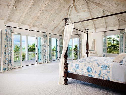 Beach house, dream house.Dreams Bedrooms, Dreams Home, Beach Bedrooms, Bedrooms Design, Dreams House, High Ceilings, Master Bedrooms, Dreams Room, Beach House Bedrooms