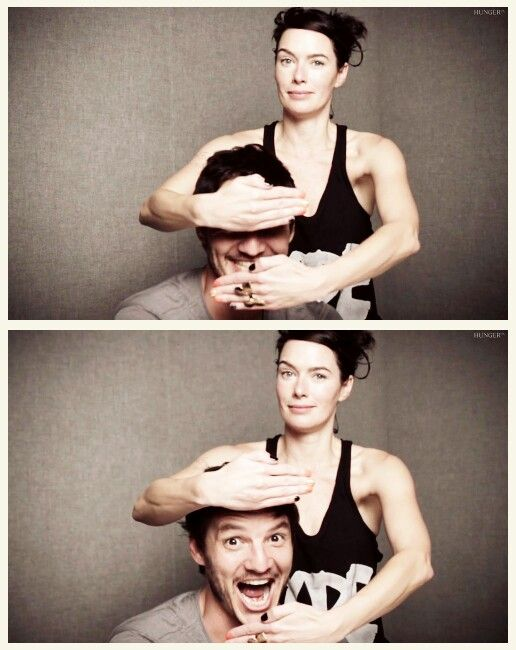 Lena & Pedro clowning around...it really is too bad...gonna miss Oberyn.  Once again, don't get too attached!