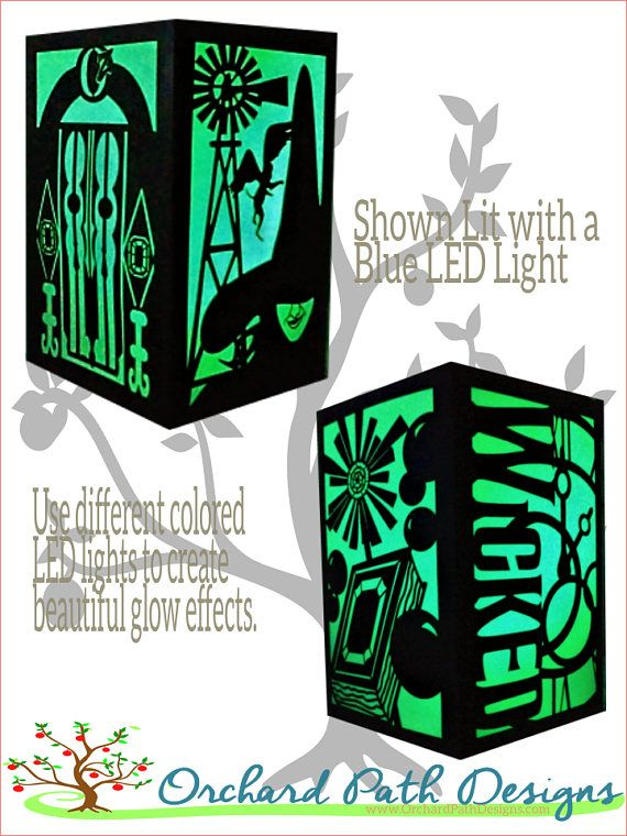 Wicked Broadway Musical themed Paper Lantern for wedding