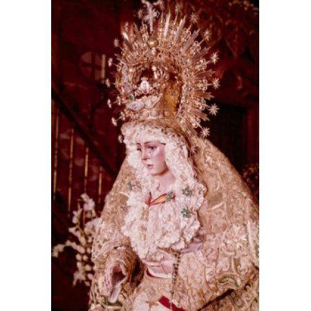 Madonna de la Macarena artist unknown sculpture Spain Seville Canvas Art - (24 x 36)