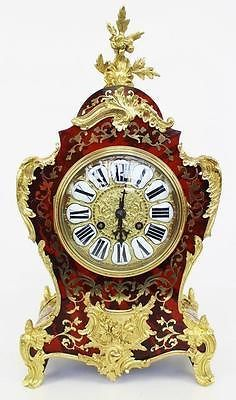 Rare Original Outstanding Antique French RED Shell Ormolu Boulle Mantel Clock   eBay